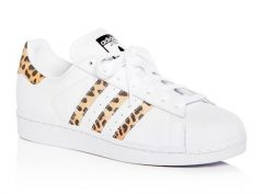 Adidas Superstar Leather & Leopard Print Sneakers