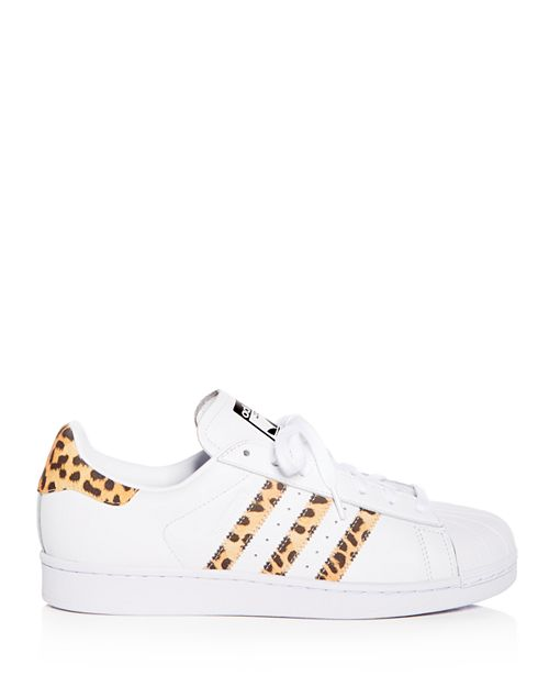 best authentic 0849b 793fa Adidas Superstar Leather & Leopard Print Sneakers