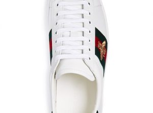 Gucci Men's New Ace Leather Lace Up Sneakers
