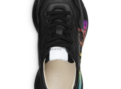 Gucci Women's Rhyton Logo Leather Sneakers