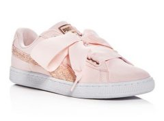 PUMA Basket Heart Lace Up Sneakers